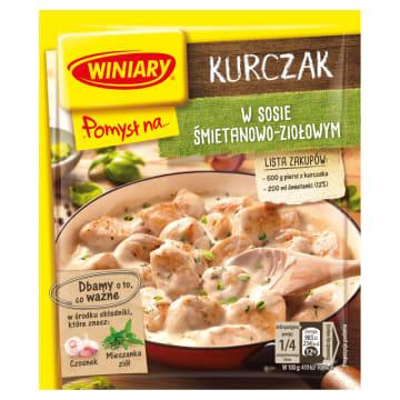 Pomysł na Kurczaka w sosie śmietanowo-ziołowym - Winiary