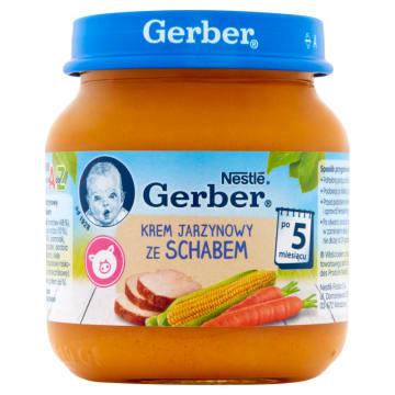 Gerber Zupka Krem jarzynowy ze schabem po 5 miesiącu - źródło witamin i białka dla najmłodszych.