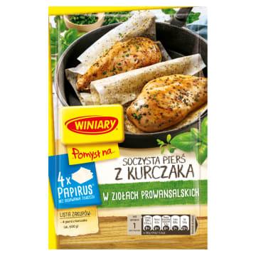 Pomysł na pierś kurczaka w ziołach - Winiary. Papirus z przyprawami to sposób na szybki obiad.