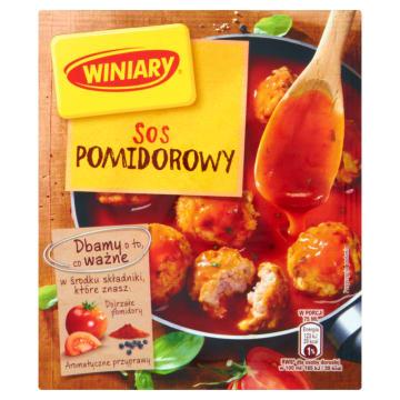 Winiary - sos pomidorowy 36g. Kompletny zestaw składników, dodatek do wielu dań.