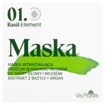 VIS PLANTIS Basil Element Maska wzmacniająca przeciw wypadaniu włosów 200g