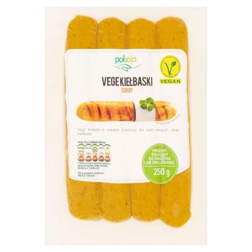 Kiełbaski grillowe z curry-Polsoja Vege to naturalnie wędzony produkt o niskiej zawartości tłuszczu.