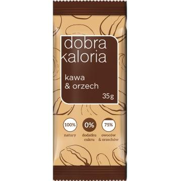 DOBRA KALORIA Baton owocowy kawa&orzech 35g