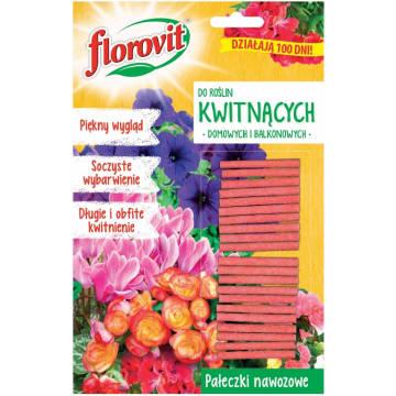 FLOROVIT Pałeczki nawozowe do roślin kwitnących domowych i balkonowych 20g