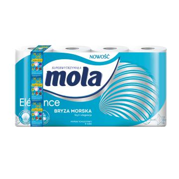 Papier toaletowy Bryza Morska 8 rolek MOLA ELEGANCE. Delikatność w każdej łazience.