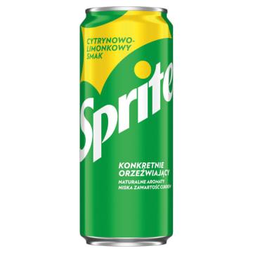 Napój gazowany SPRITE 330ml - gazowane orzeźwienie cytrynowo-limonkowe.