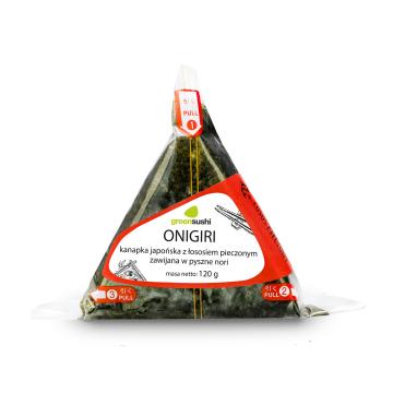 GREEN SUSHI ONIGIRI Kanapka japońska z łososiem pieczonym zawijana w nori 120g