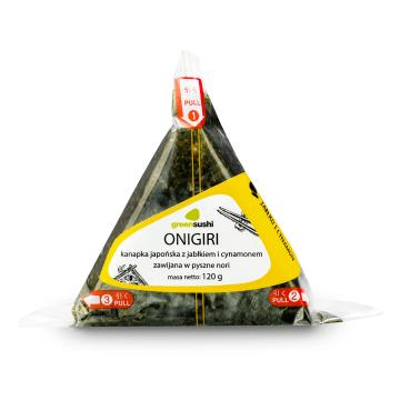 GREEN SUSHI ONIGIRI Kanapka japońska z jabłkiem i cynamonem zawijana w nori 120g