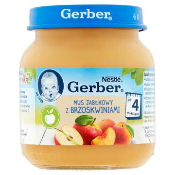 Deser Mus jabłkowy z brzoskwiniami - Geber - smak i zdrowie dla dzieci już od 4. miesiąca życia