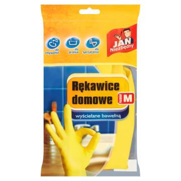 Rękawice domowe - Jan Niezbędny. Rękawice z wysokiej jakości lateksu, wewnątrz wyścielane bawełną.