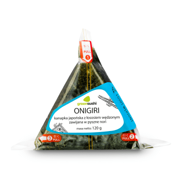 GREEN SUSHI ONIGIRI Kanapka japońska z łososiem wędzonym zawijana w nori 120g