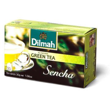 Dilmah - Herbata zielona Sencha 20 torebek. Delikatny smak zielonej herbaty.