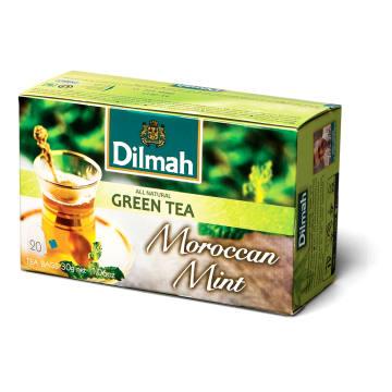 Herbata zielona z marokańską mięta - Dilmah