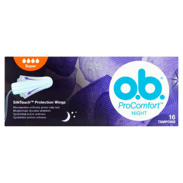 O.B.® ProComfort Night Tampony Super 16 szt. 1 szt