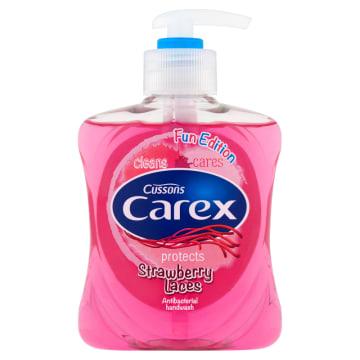 Carex Kids - Antybakteryjne mydło w płynie Strawberry Candy. Delikatne mydło o truskawkowym zapachu.