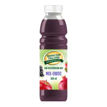 SŁONECZNA TŁOCZNIA Oczyszczenie Sok z jabłka, gruszki, porzeczki, winogrona, jagody i granatu 500ml