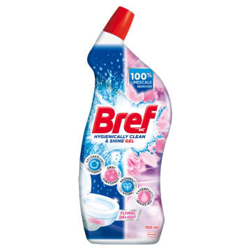 BREF Hygienically Clean&Shine Środek czyszczący do WC Floral Delight 700 ml