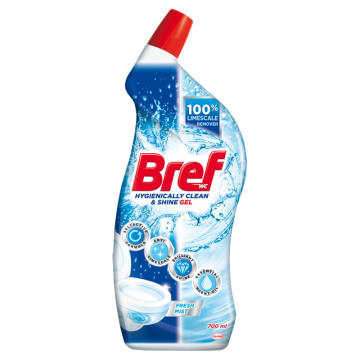 BREF Hygienically Clean&Shine Środek czyszczący do WC Fresh Mist 700ml