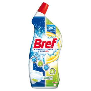 BREF Hygienically Clean&Shine Środek czyszczący do WC Lemonitta Power 700 ml