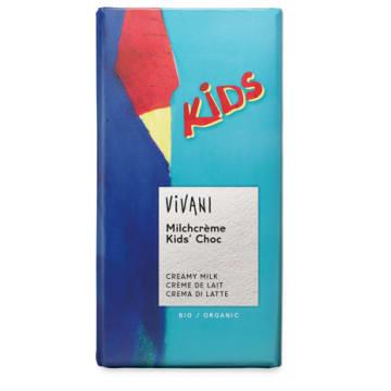 Czekolada mleczna dla dzieci bio – Vivani to słodka przekąska uzyskana z ekologicznych składników.