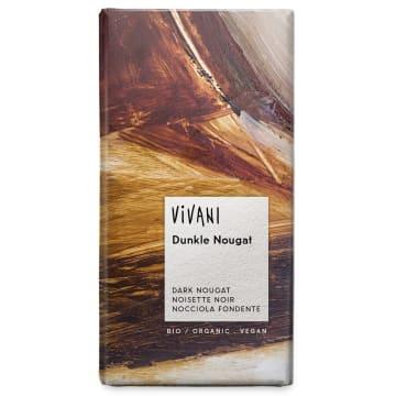 Czekolada gorzka - Vivani. Połączenie rewelacyjnej, gorzkiej czekolady z nugatowym wnętrzem.