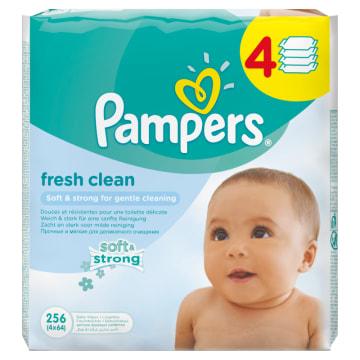 Chusteczki pielęgnacyjne Baby Fresh - Pampers. Oczyszczające chusteczki z nutą aloesu.