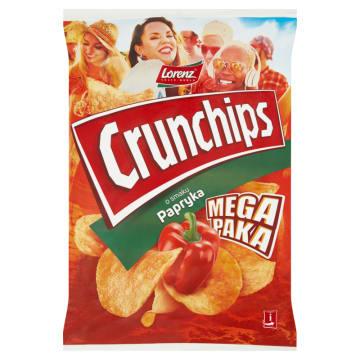 Chipsy paprykowe Crunchips Lorenz sporządzone na certyfikowanym oleju ze zrównoważonej produkcji.