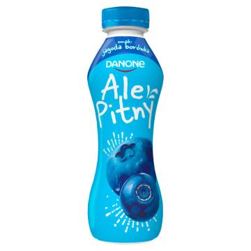 DANONE ale Pitny! Napój jogurtowy - jagoda i borówka (butelka) 290g