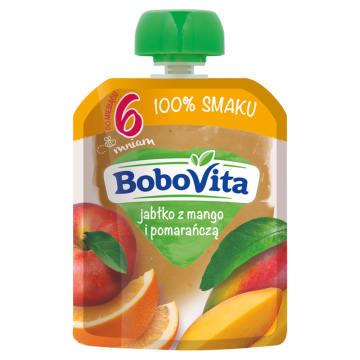 BOBOVITA 100% SMAKU Jabłko z mango i pomarańczą po 6 miesiącu 80g