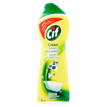 Mleczko do czyszczenia- Cif. Pomaga utrzymać czystość i dobry wygląd wielu powierzchni.