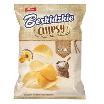 BESKIDZKIE Chipsy na Oleju Słonecznikowym z Solą 70g