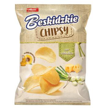 BESKIDZKIE Chipsy na Oleju Słonecznikowym Ser i Cebulka 70g