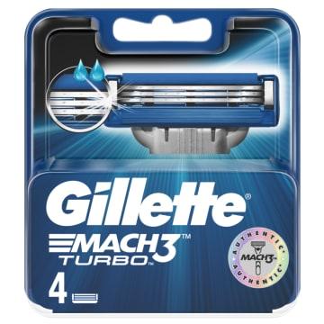 GILLETTE Mach3 Turbo Ostrza wymienne do maszynki do golenia 4 sztuki 1szt