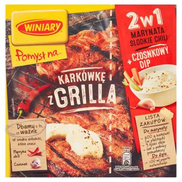 WINIARY Pomysł na... Karkówkę z grilla + marynata słodkie chili i czosnkowy dip 30g
