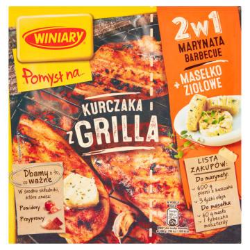 WINIARY Pomysł na... Kurczaka z grilla + marynata barbecue i masełko ziołowe 35g