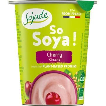 Jogurt sojowy wiśniowy Sojade to wegański produkt z upraw ekologicznych, bezlaktozowy.