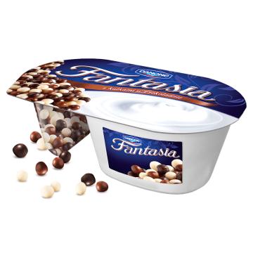 Jogurt kremowy z kulkami w czekoladzie - DANONE Fantasia Jogurt
