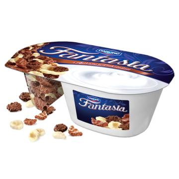 Kremowy jogurt z płatkami-Danone Fantasia. To smaczny i pożywny pomysł deser.