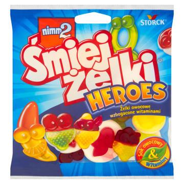 NIMM2 Śmiejżelki Heroes Żelki owocowe wzbogacone witaminami 90g