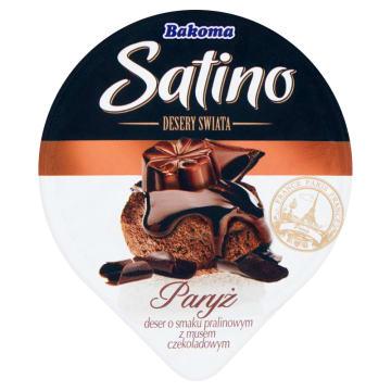 BAKOMA Satino Desery Świata Deser o smaku pralinowym z musem czekoladowym Paryż 105g