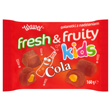 WAWEL Fresh&Fruity Kids Cola Galaretki z nadzieniem 160g