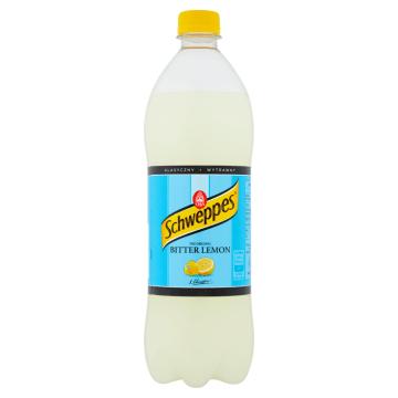 Napój gazowany Bitter Lemon 1000ml- Schweppes. Klasyczna lemoniada z subtelną goryczą tonicu.