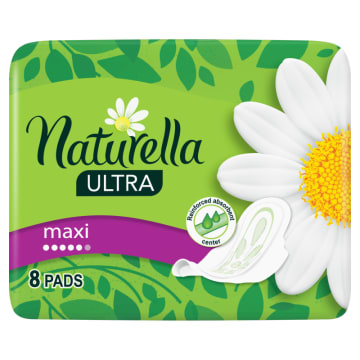 Podpaski ze skrzydełkami Ultra Maxi Naturella są wyjątkowo chłonne i cienkie.
