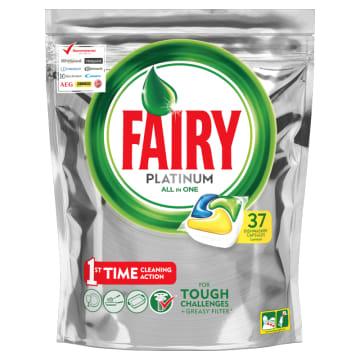 Kapsułki All In One Fairy Platinum Lemon – unikalna formuła produktu, wysoka skuteczność.