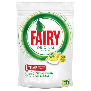 Kapsułki do zmywarek Lemon - Fairy o przyjemnym, cytrusowym zapachu.