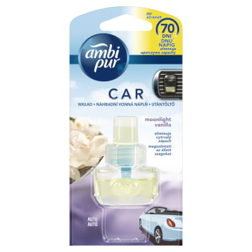 AMBI PUR CAR Samochodowy odświeżacz powietrza Moonlight Vanilla - wkład 1szt