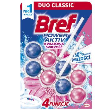 BREF Power Aktiv Zawieszka do WC - Kwiatowa świeżość 2x50g 1szt
