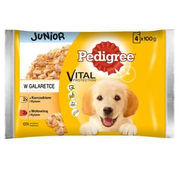 PEDIGREE VITAL PROTECTION Junior Pokarm dla psa karma pełnoporcjowa  4 saszetki 400g