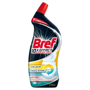 BREF 10xEffect Power Gel Płynny środek do mycia muszli WC przeciw rdzy 700ml