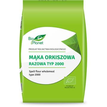 Mąka orkiszowa razowa typ 2000, 1 kg - Bio Planet